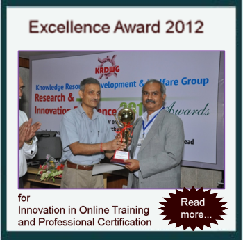 Excellence Award 2012 for Innovation in Online Training and Professional Certification